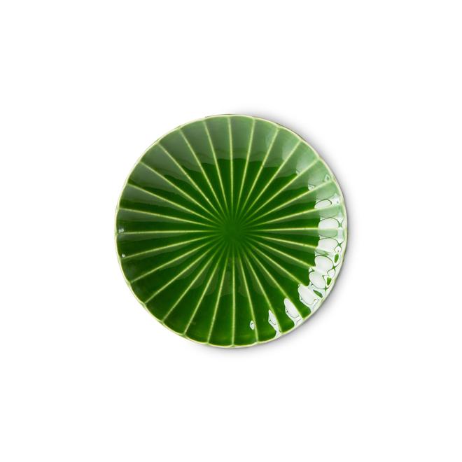Bord bijgerecht 'Ribbed green' | The Emeralds
