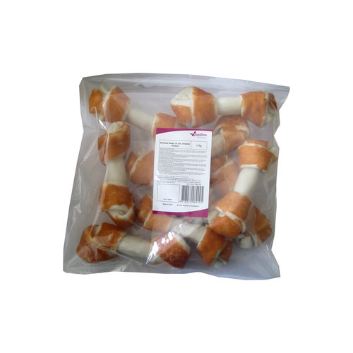 Papillon Knotted leg 15cm + twisted chicken 1 KG