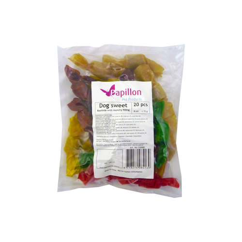 Papillon Dog sweet 8 cm 15-20g assorted colours