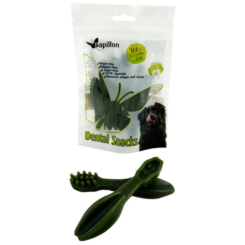 Papillon brosse à dents légume vert
