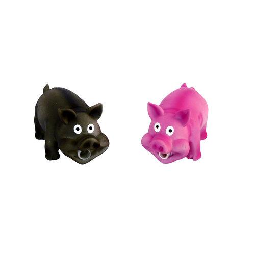 Papillon Latex lächelnd Schwein mit Ton