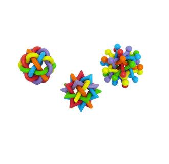 Rubber multi-colour balls ass.