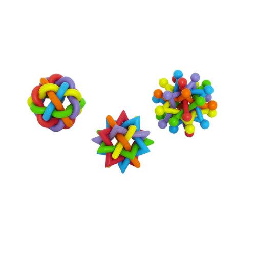 Papillon Rubber multi-colour balls ass.