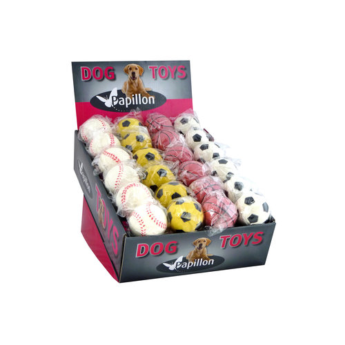 Papillon Sponge balls in display 6 cm assorted