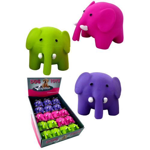 Papillon Latex Elefanten im Display