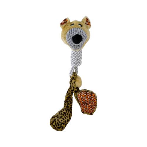 Papillon Plush big feet toy with cotton long neck