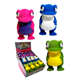 Latex frogs 3 colors in display