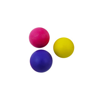 Rubber ball 40mm assorted colours