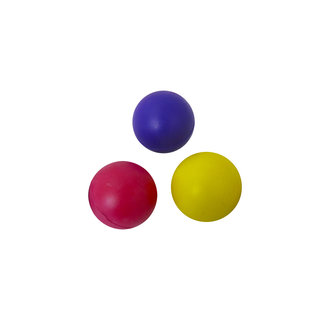Caoutchouc balle de 50 mm couleurs assorties