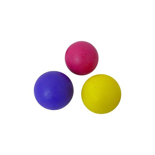 Papillon 75mm caoutchouc balle couleurs assorties