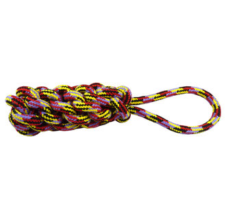 Woven rope tug 37,5 cm, 370-390 g, mixed