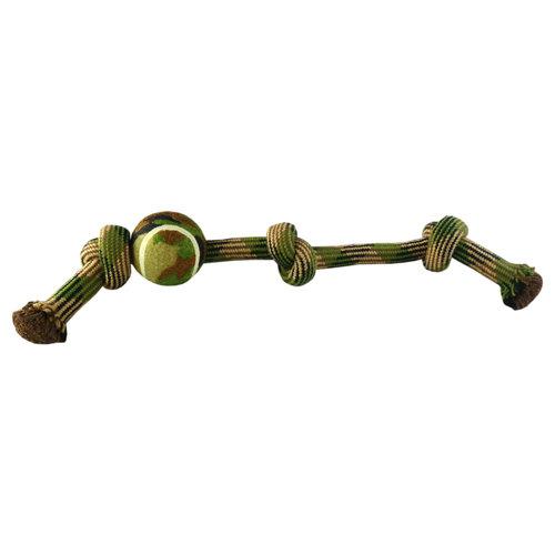 Papillon Woven rope 3 knots + 7,5 cm tennis ball