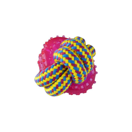 Papillon Weaving rope toy with TPR, 8cm 140-150g