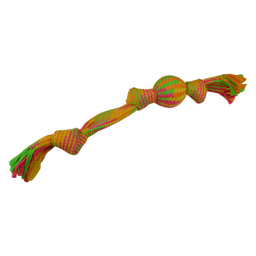 Papillon Rope toy with ball 55 cm, 315-325 g