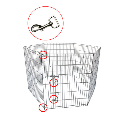 Papillon Wire cage Puppy, 8 x (80x100) galvanized