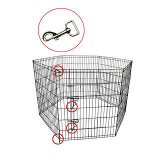 Wire cage Puppy, 8 x (80x100) black