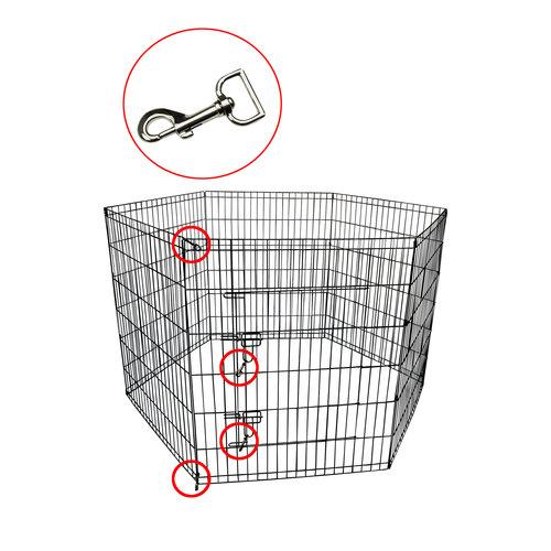 Papillon Wire cage Puppy, 8 x (80x100) black