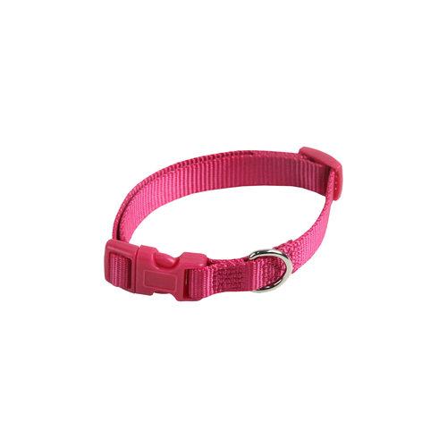Papillon Basic nylon adjustable collar pink