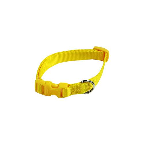 Papillon Basic nylon adjustable collar yellow