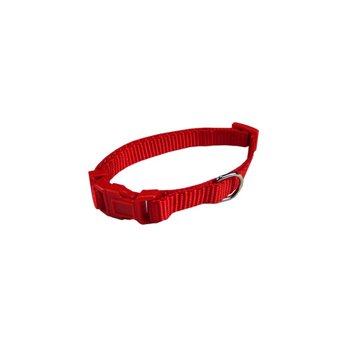 Papillon Basic nylon adjustable collar red