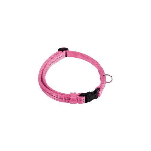Papillon Refl. nylon adjustable collar pink