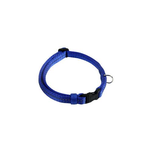 Papillon Réfl. nylon collier réglable bleu