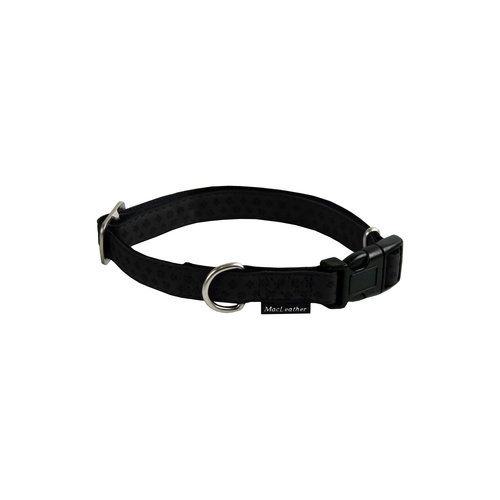 Papillon Mac Leather Mono adj. collar black