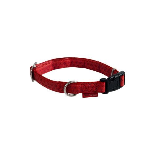 Papillon Mac Leather Mono adj. collar red