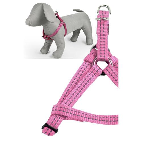 Papillon Refl. nylon harness pink