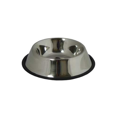Papillon Stainless steel food tray with a rubber edge