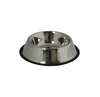 Bac alimentaire en acier inoxydable de 33 cm / 2,80L avec un bord en caoutchouc 12 pcs