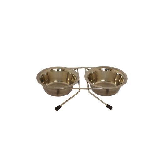 Papillon Stainless steel standard incl. Trough