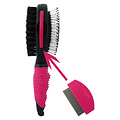 Papillon Brush two-sided comb + 6 pieces