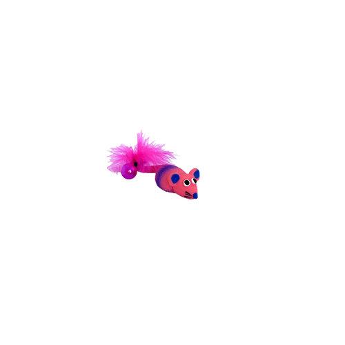 Papillon Latex + Bell + plumes jouets de chat: souris