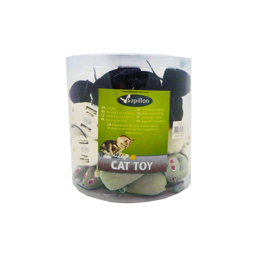 Papillon Wind-up mouse, 7cm, 36 in tube 36 pieces