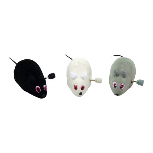 Papillon Wind-up muis, 7cm, 36 in tube 3