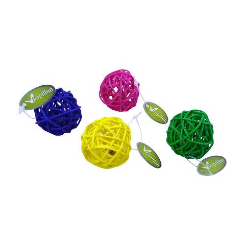 Papillon Fil balle 4cm, 4 couleurs, 60 pcs