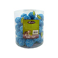 Papillon Bal 4cm blauw/wit, 60 in tube met tag