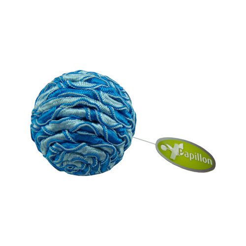 Papillon Ball 4cm blau / weiß Rohr 60 mit dem Tag
