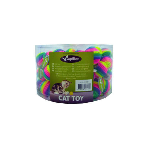 Papillon Rainbow ball 3½cm, tube 60 with tag 60 pieces