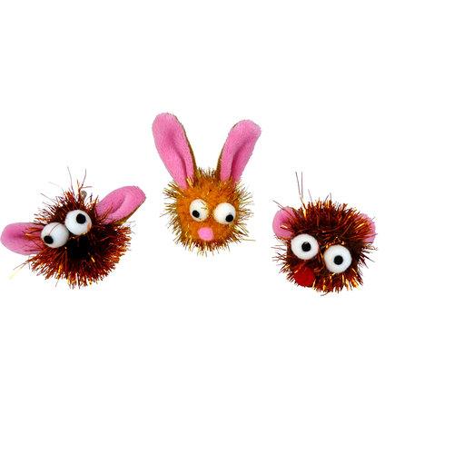 Papillon Glitter fait face oreilles drôles 3 mod. 60 / tube