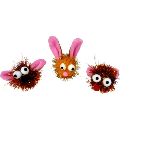 Papillon Glitter Gesichter lustig Ohren 3 mod. 60 / Röhrchen