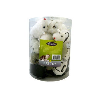 Wind-up Mouse, 12cm, 18 in tube 18 pieces