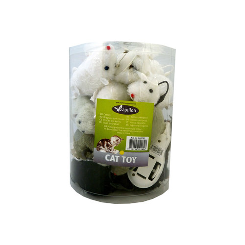 Papillon Wind-up Mouse, 12cm, 18 in tube 18 pieces