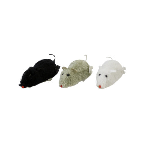 Papillon Wind-up muis, 12cm, 18 in tube