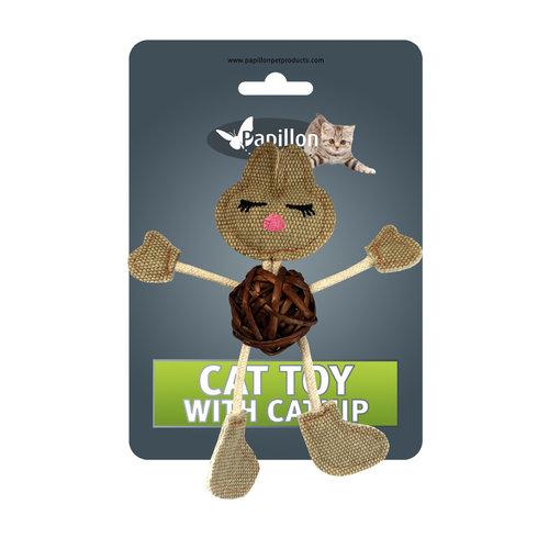 Papillon Rabbit on card + catnip