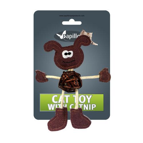 Papillon Hund auf der Karte + catnip