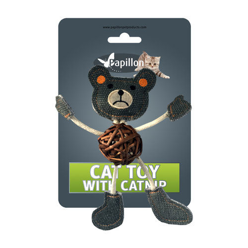 Papillon Bear on card + catnip