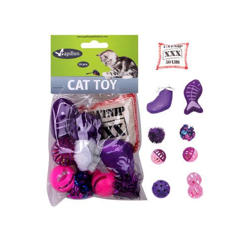 Papillon cat toy set