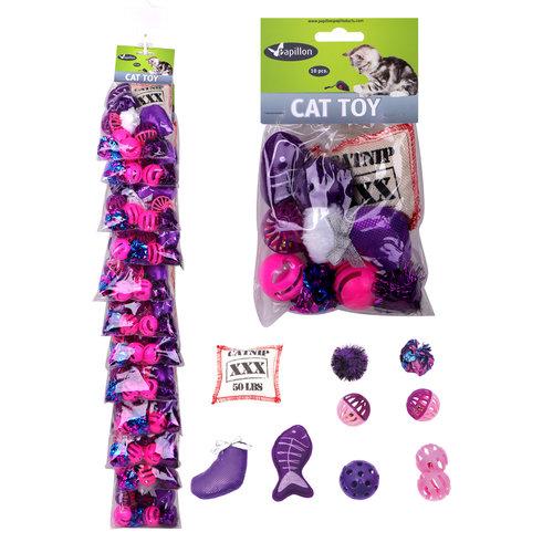 Papillon jouet pour chat Clip mis